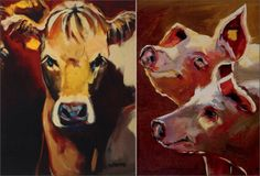 OUR CYBER MONDAY SPECTACULAR: FARM ANIMAL CANVAS     We've saved the best for last!  Beautiful Cow Canvas and a small collection of other farm animals help complete your home's natural evolution into a chic farmhouse.  From cows to sheep and from piglets to roosters, you're sure to find different but tasteful wall art to add the spectacular beauty of farm life to your interiors.