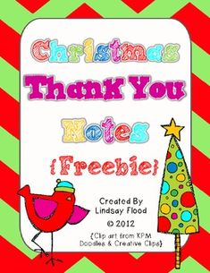 {freebie} Christmas thank you notes for your students:)