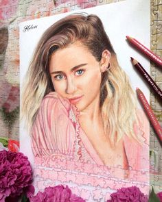 Drawing of Miley Cyrus from Billboard photoshoot. Malibu is out tags: malibu 2017 hodarts prismacolor miley cyrus noa billy ray russia usa inspired art liam hemsworth flowers puzzle arts