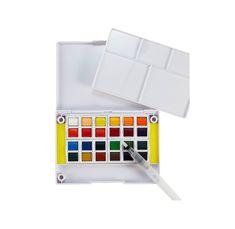 iHeart Art 24 Watercolors & Water Brush Pen