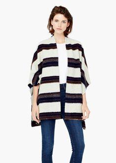 Poncho lã jaspeado