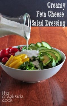 A little bit lighter, a whole lot of flavor: Creamy Feta Salad Dressing | The Creekside Cook
