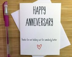 Funny Anniversary Card Happy Anniversary by YeaOhGreetings on Etsy