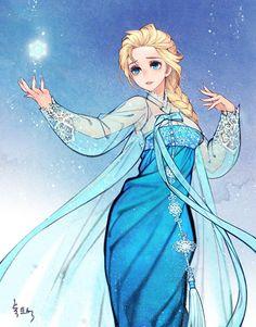 Como seriam os desenhos da Disney se tivessem sido criados na Ásia Oriental? Para mudar os padrões ocidentais das princesas do estúdio norte-americano, a artista coreana Na Young Wu, apelidada de Obsidian, criou ilustrações reinterpretando os personagens mais famosos das histórias.