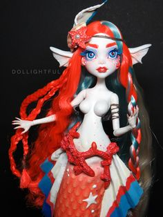 Cora. Inspired by Tokidoki Mermicorno series! Monster High OOAK custom doll by Dollightful