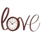 """Chaney 13"""" Red Hot Love Metal Clock 46204"""