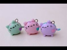 Pastel Pusheen Cat polymer clay charm tutorial