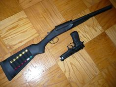 Stoeger double defender tactical shotgun and a Beretta M9Loading that magazine is a pain! Get your Magazine speedloader today! http://www.amazon.com/shops/raeind