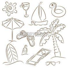 Summer beach doodle