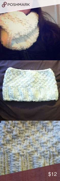 Cowl Style Neck Warmer This is a brand new, one of a kind, hand knit item.  Very soft and warm. Matching hat available in my closet. Accessories Scarves & Wraps