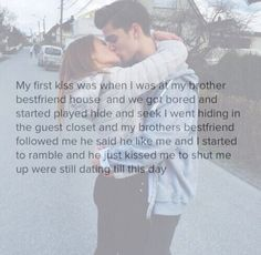 Relationship goals minus the brothers best friend.I just want you to kiss me when I'm rambling just to shut me the fuck up it's so damn cute when guys do that Cute Couple Stories, Cute Love Stories, Love Story, Sad Stories, Cute Relationship Texts, Cute Relationships, Relationship Videos, Relationship Tattoos, Relationship Comics