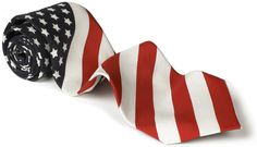 """Sparks Will Fly"" American Flag Wedding Tie: 4th Of July"