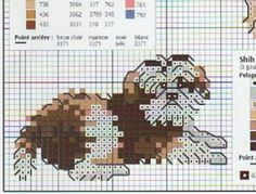 shih tzu cross stitch free pattern