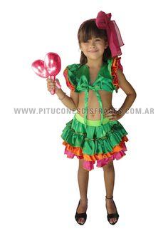 Výsledek obrázku pro disfraz de rumbera para niña