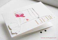 Zwei Karten zum Thema Liebe, Hochzeit gefertigt mit Materialien aus der Glückstagebuch-Serie von Alexandra Renke.
