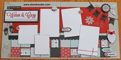 Snowhaven Winter Snow Scrapbook Layout Pages -
