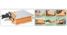 Build Horizontal Router Table - Router Tips, Jigs and Fixtures - Woodwork, Woodworking, Woodworking Plans, Woodworking Projects Woodworking Jigs, Woodworking Projects, Router Table, Table Plans, Wood Projects, Diy And Crafts, Decorative Boxes, Workshop, How To Plan