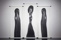 ~Charcoal and graphite DRAWINGS by Hong Chun Zhang...