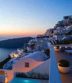 Oia Santorini By Santorini Island, Santorini Greece, Mykonos, Wonderful Places, Beautiful Places, Lux Hotels, Places To Travel, Places To Visit, Greece Travel