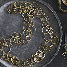 Hammered Brass Chain Necklace by Roost - Seven Colonial