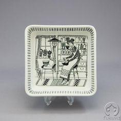 Arabia, Finland - Emilia range. New China, China Painting, Marimekko, Vintage Ceramic, Glass Design, Scandinavian Design, Art Deco, Pottery, Ceramics