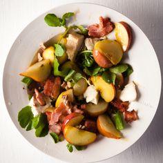 Taste Mag | Warm buttered pear, apple and Gorgonzola salad @ https://taste.co.za/recipes/warm-buttered-pear-apple-gorgonzola-salad/