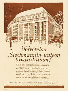 Mainos: Stockmannin uusi tavaratalo, 1926
