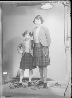 Princess Elizabeth and Princess Margaret, 1940