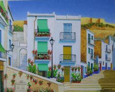 Barrio Santa Cruz Alicante, Case, House Styles, Google, Decor, Santa Cruz, Drawings, Water Colors, Paintings