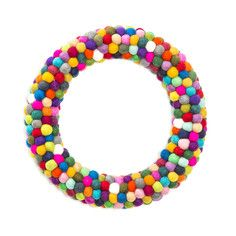 Felted Ball Wreath, $79, now featured on Fab.
