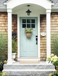 Front Door Lighting, Porch Lighting, Barn Lighting, Outdoor Lighting, Lighting Ideas, Exterior House Lights, Exterior Doors, Exterior Paint, Exterior Design