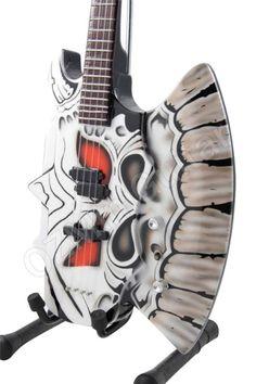 Miniature Bass Guitar Gene Simmons Kiss Axe Custom | eBay