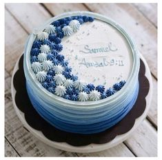 Simple Birthday Cake Designs, Cake Designs For Boy, Cake Design For Men, Simple Cake Designs, Cake Decorating Designs, Creative Cake Decorating, Cake Decorating Frosting, Cake Decorating Videos, Birthday Cake Decorating