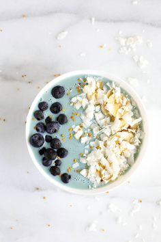 Boo Berry Superfood Smoothie Bowl - A superfood smoothie that's sure to make you smile. It's smooth and not too sweet .. filled with blue majik, banana, blueberries, dates & protein powder