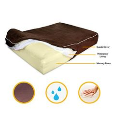 """Extra Large 7"""" Thick Orthopedic Memory Foam Dog Bed With 3'' Pillow - Includes Waterproof Inner Protector - Dark Chocolate Color XL   Check it out-->  http://cutemypets.us/product/extra-large-7-thick-orthopedic-memory-foam-dog-bed-with-3-pillow-includes-waterproof-inner-protector-dark-chocolate-color-xl/  #pet #food #bed #supplies"""