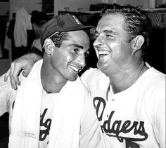 THINK BLUE: The best Sandy Koufax and Don Drysdale.  Spent my early teen years at Dodger Stadium.  The guys each pitched every 3 days.  World Series Championships Cy Young wins No-hitters and Perfect Games.  Saw a double header one year; Sandy won with a 1 hitter Drysdale won with a 2 hitter.  As usual complete games for both.  Great memories! by wlwmgt