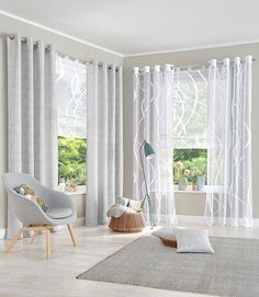 Decorating Living Room Raffrollo, my home, 'Cellino': Transparent / Roman Blinds / Curtains & Curtains … Roman Curtains, Curtains Living, Curtains With Blinds, Roman Blinds, Scandinavian Interior Design, Home Interior Design, Urban Outfitters Home, French Country Living Room, Curtain Designs