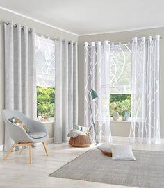 Lieblich Gardinen Wohnzimmer Beispiele