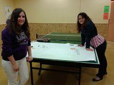 El equipo organizativo preparando la Gymkana.