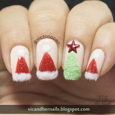 Vic and Her Nails: Digital Dozen Does Winter Wonderland - Day 5: Christmas