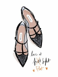 Love at f... lat sight, Tabitha Simmons F/W13.  Open Toe, fashion illustrated - Opentoeillustration.com