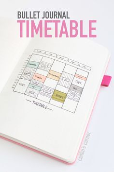 Bullet journal student timetable…write down your class schedule and plan out s… Bullet journal student timetable…write down your class schedule and plan out study sessions! Bullet Journal Uni, Bullet Journal Timetable, Bullet Journal Printables, Bullet Journal Aesthetic, Bullet Journal Ideas Pages, Bullet Journal Layout, Journal Pages, Bullet Journals, Journal List