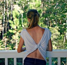 Butterfly Twist-Back Tee | 31 T-Shirt DIYs That Are Perfect For Summer