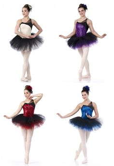 Heartstrings Sequin Ballet Tutu Blue,Red,Ivory,Purple Christmas Dance Costume US #Cicci