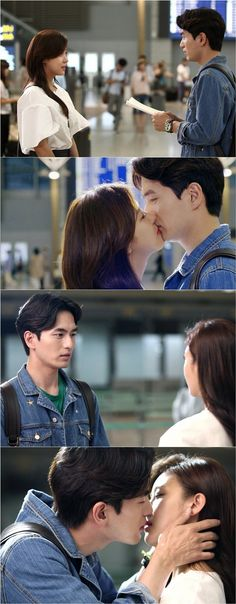 'The Time I Loved You' Behind the scenes photos from Ha Ji-won and Lee Jin-wook's airport kiss @ HanCinema :: The Korean Movie and Drama Database
