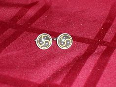 bdsm emblem cufflinks, available in silver and gold