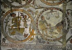 Otranto Cathedral Zodiac 12th Century Mosaic - Virgo and Libra
