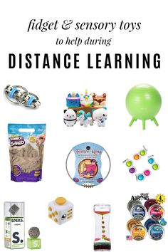 Fidget and sensory toys to help during distance learning! All items can be purchased from Amazon. Fidget Cube, Fidget Toys, Best Gifts For Girls, Gifts For Kids, Therapy Putty, Slap Bracelets, Sensory Integration, Ideal Tools, Sensory Toys
