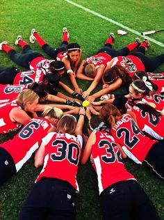 softball team - this pic would be better from a higher angle, to get all the numbers on the backs in it. Softball Drills, Softball Coach, Girls Softball, Softball Players, Softball Stuff, Softball Workouts, Softball Party, Softball Things, Softball Uniforms