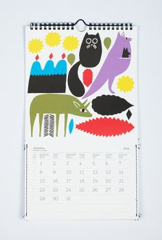 Illustration for calendar / Marimekko / 2012